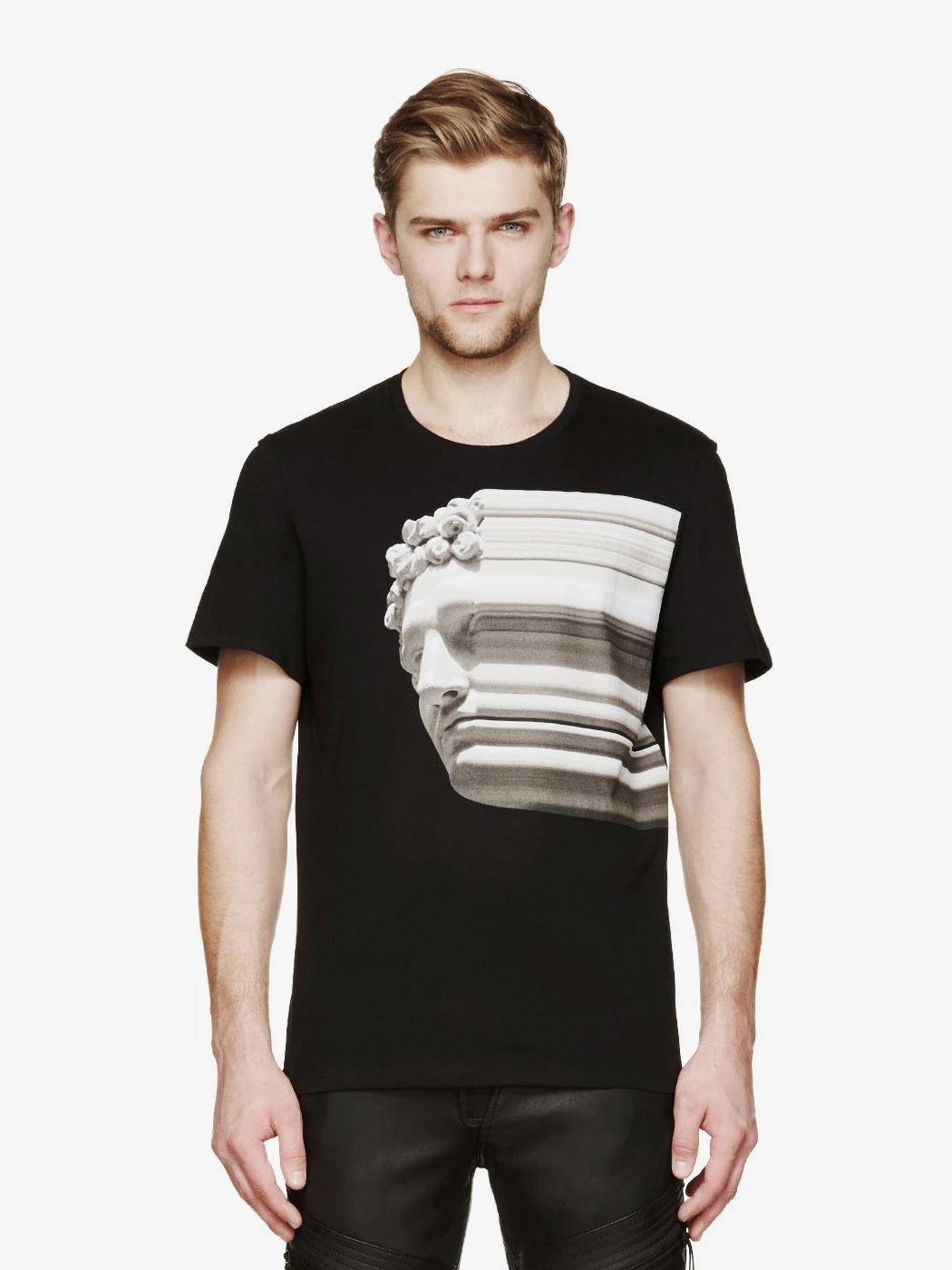Black & Grey Half T-Shirt - Uncode