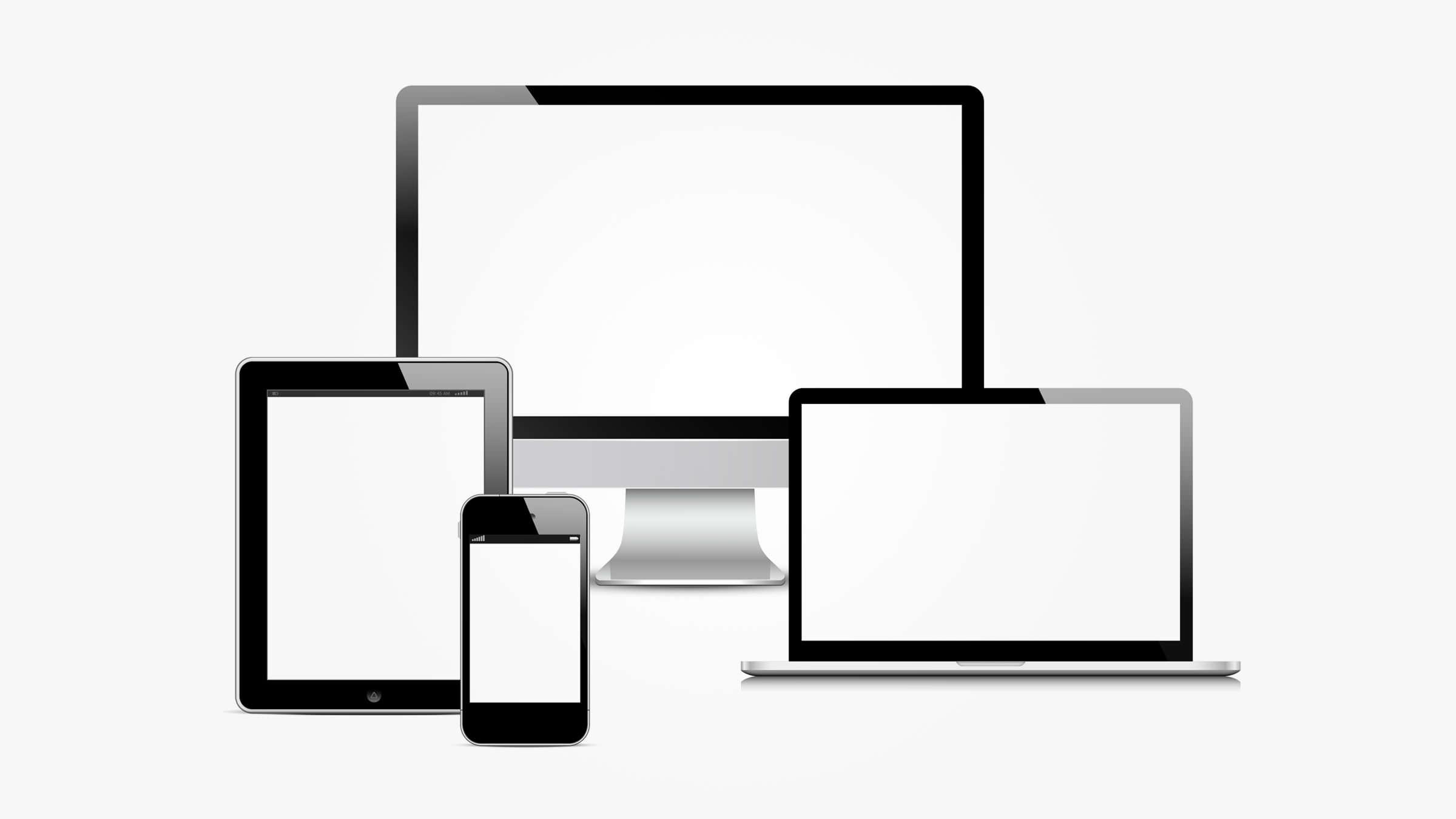A screenshot showing a visual representation of responsive design.