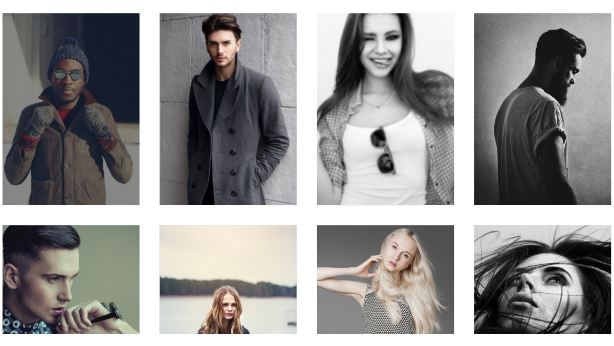 A fixed-width image gallery.