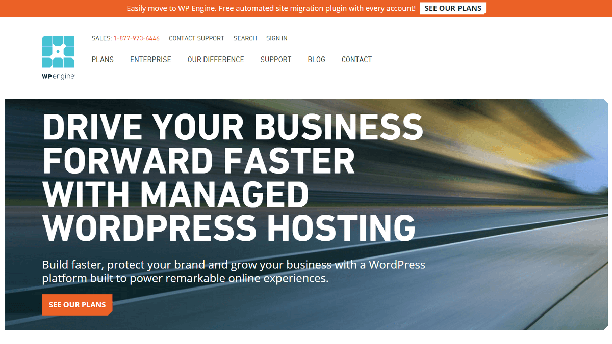 The WP Engine WordPress host.