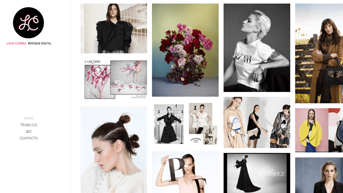 Lucia Correa's portfolio.