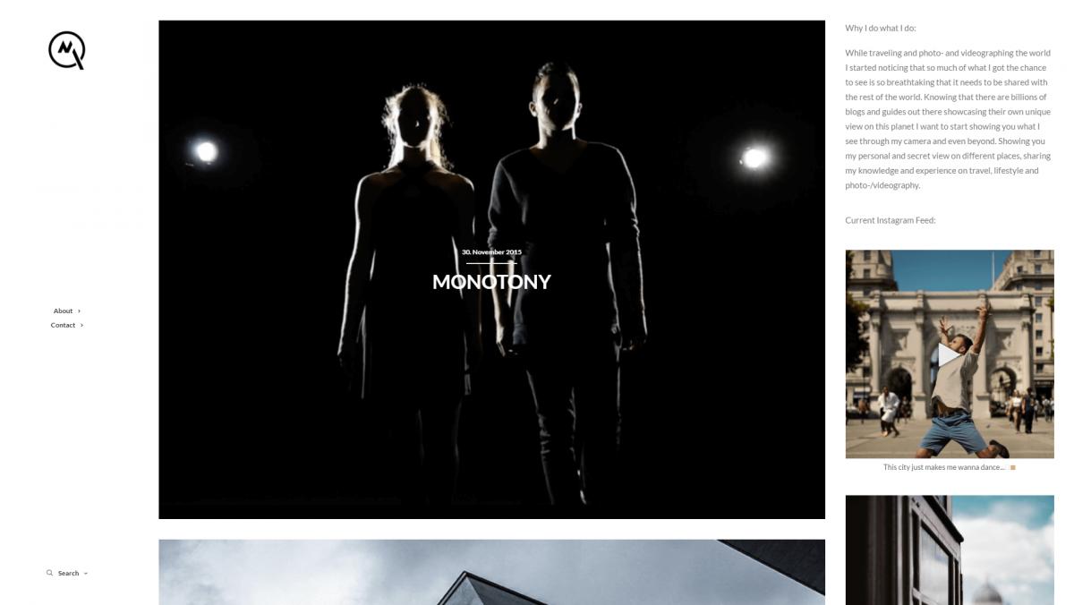 The Milon Quayim photography website.