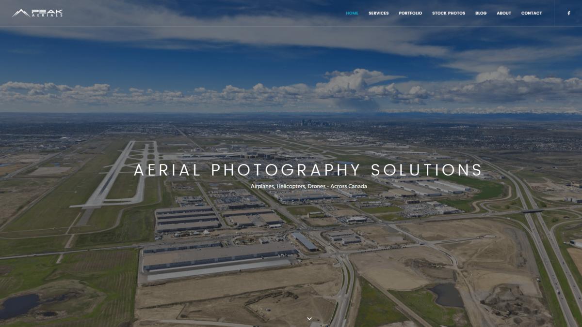 The Peak Aerials photography website.