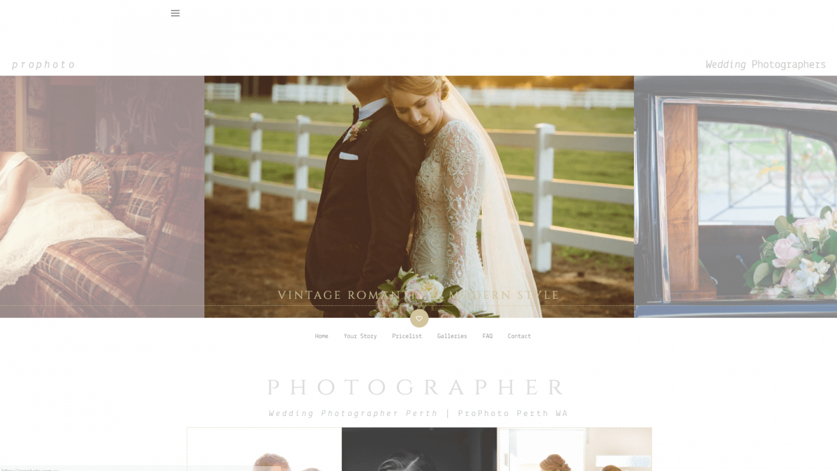 The Prophoto photography website.