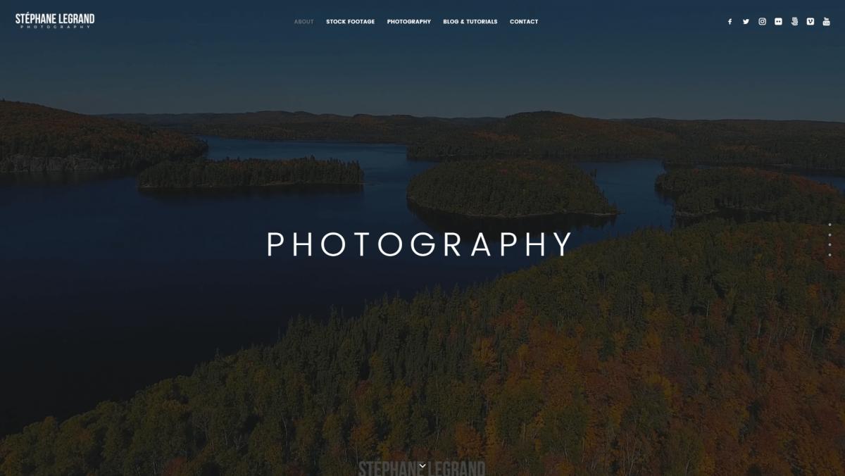 The Stephane Legrand Photography website.