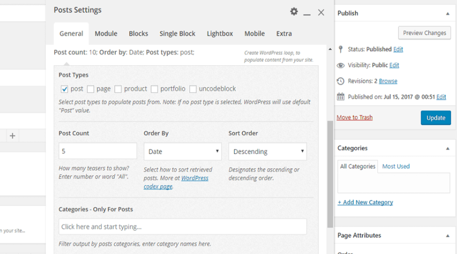 Organizing your post carousel.