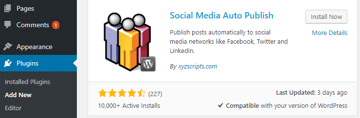 The Social Media Auto Publish plugin.