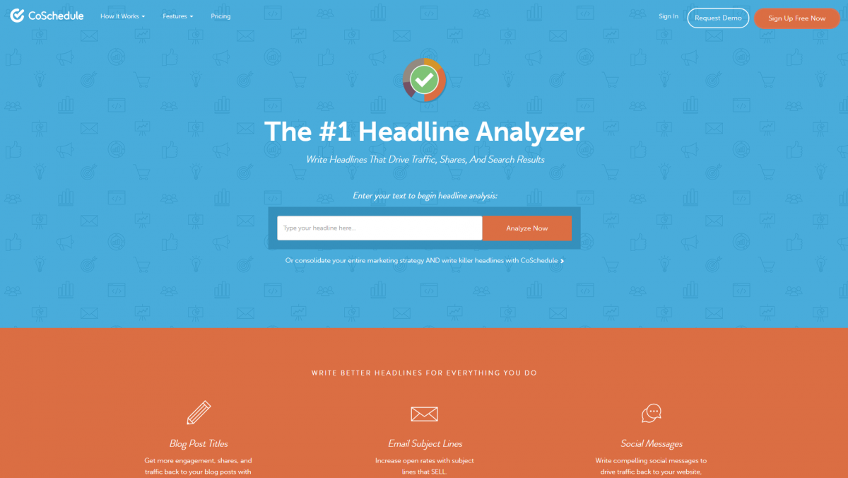 The CoSchedule Headline Analyzer.