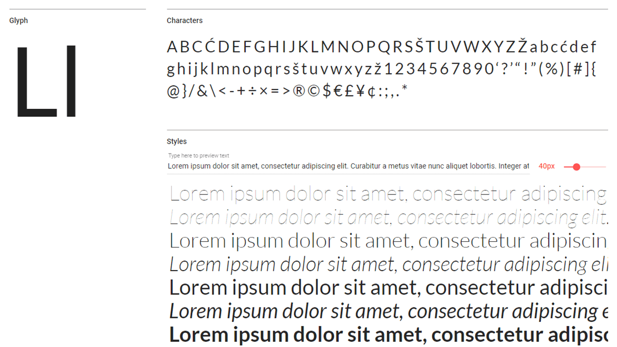 The Lato font in action.