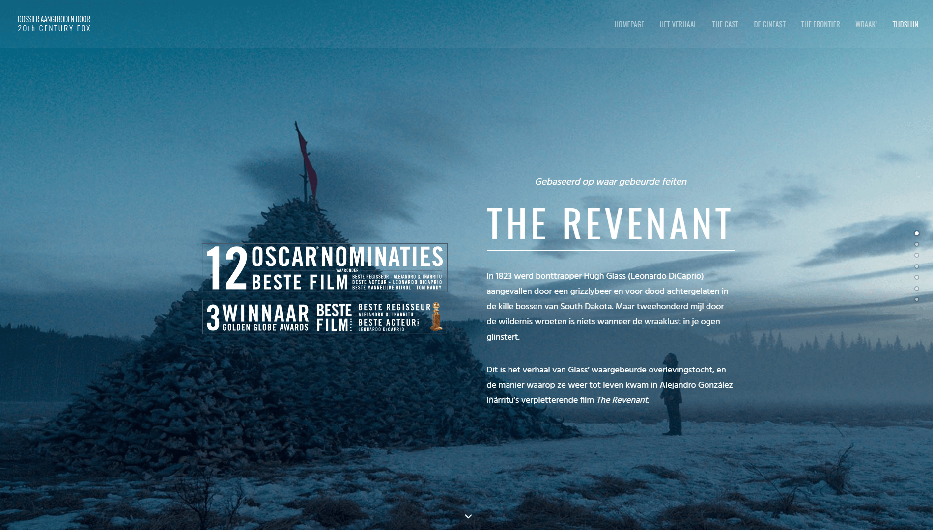 The Revenant's Belgian website.