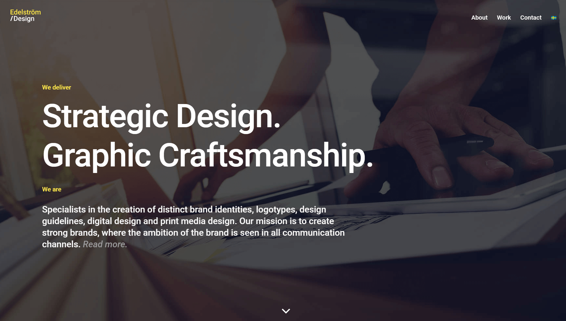 The Edelstrom Design homepage.