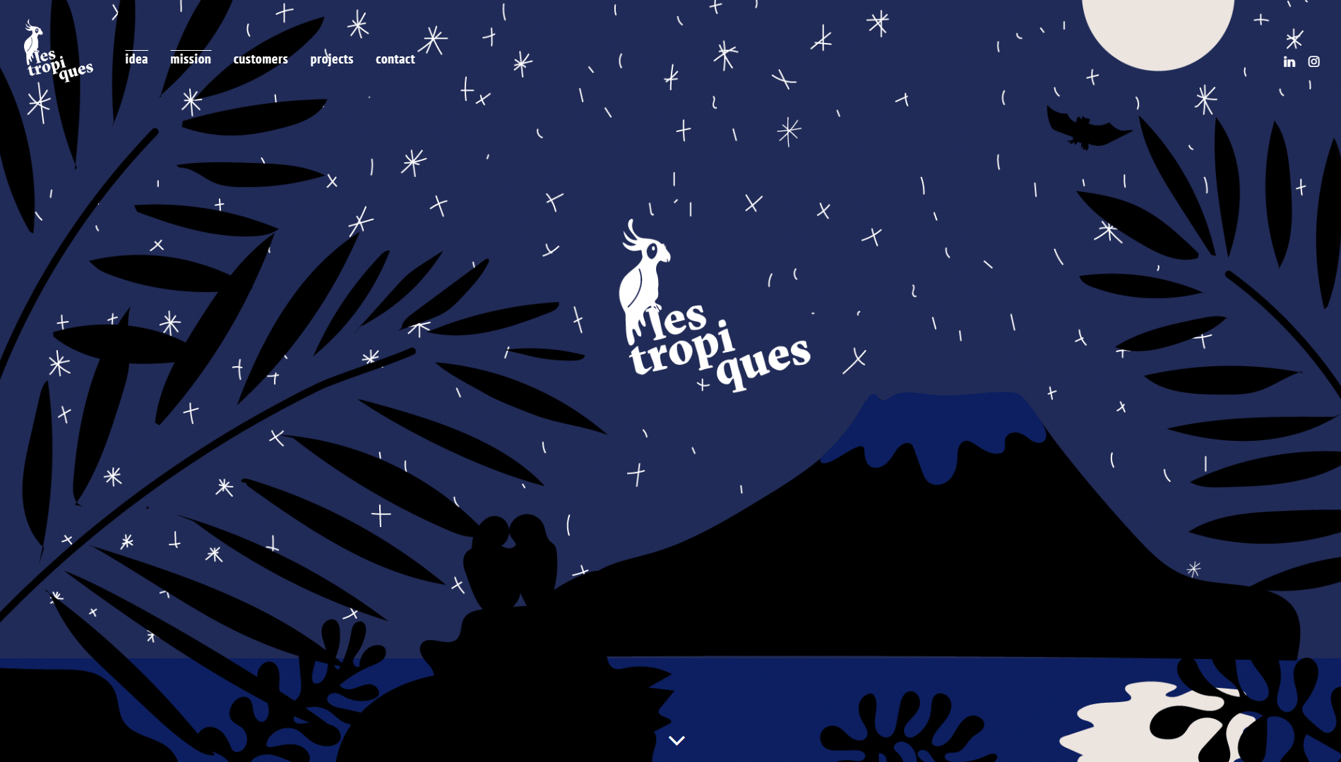 The Les Tropiques homepage.