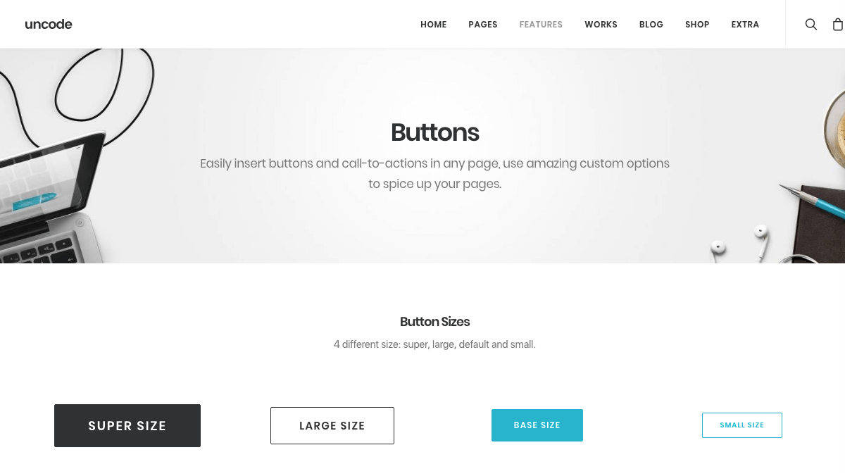 The Uncode buttons feature.